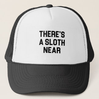 A Sloth Near Trucker Hat
