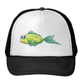 A small green fish cap