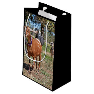 A Small Herd Of Running Goats Small Gift Bag
