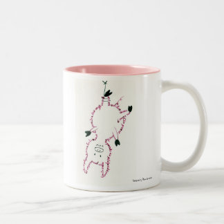 A small pig… Two-Tone coffee mug