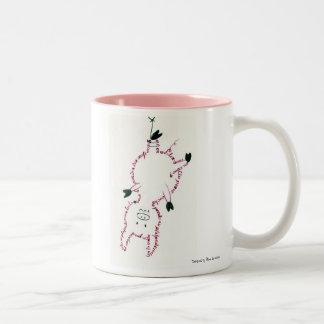 A small pig… Two-Tone mug