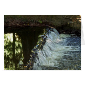 A Small Waterfall Step Greeting Card