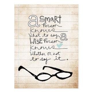 a smart person... postcard