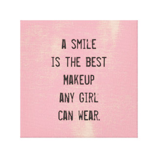 A smile is the best Makeup any girl can wear. Canvas Print