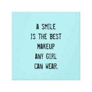 A smile is the best Makeup any girl can wear. Canvas Prints