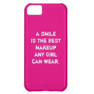 A smile is the best Makeup any girl can wear. iPhone 5C Case