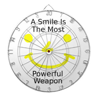 A Smile Is The Most Powerful Weapon (Smiley Face) Dartboard