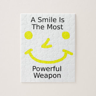 A Smile Is The Most Powerful Weapon (Smiley Face) Jigsaw Puzzle