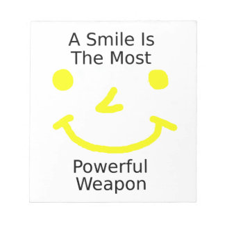 A Smile Is The Most Powerful Weapon (Smiley Face) Notepad