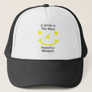 A Smile Is The Most Powerful Weapon (Smiley Face) Trucker Hat