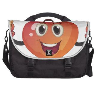 A smiling fruit laptop commuter bag