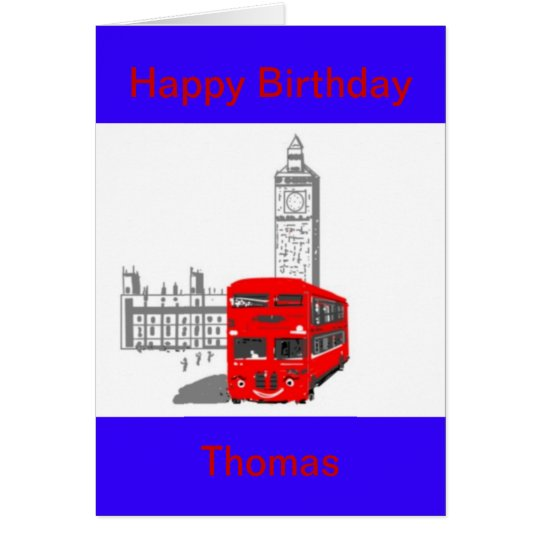 A smiling London Bus Card