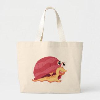 A smiling snail jumbo tote bag