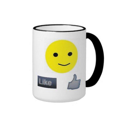 A smily and a Like on your mug