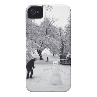 A Snowball Fight In Central Park Case-Mate iPhone 4 Cases