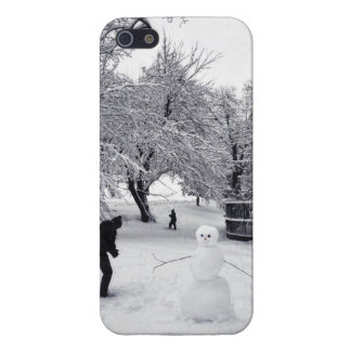 A Snowball Fight In Central Park iPhone 5 Cover