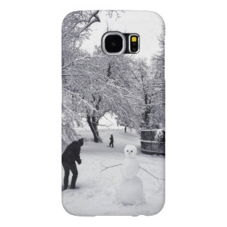 A Snowball Fight In Central Park Samsung Galaxy S6 Cases