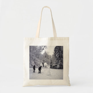 A Snowball Fight In Central Park Tote Bag