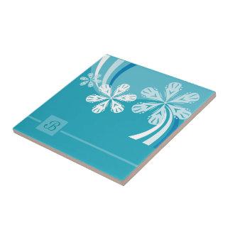 A Snowflake Storm Ceramic Tile
