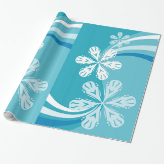 A Snowflake Storm Wrapping Paper
