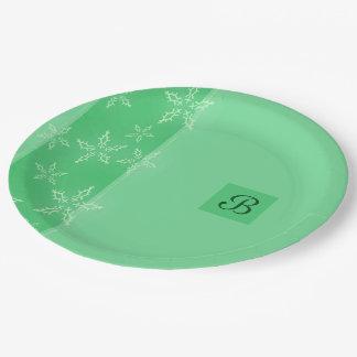 A Snowflake Stripe 2 Paper Plate