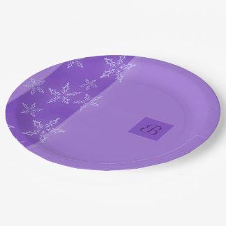A Snowflake Stripe 3 Paper Plate