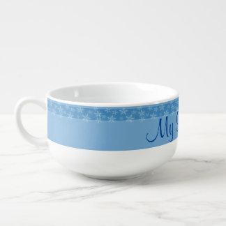 A Snowflake Stripe Soup Mug