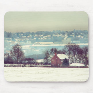 A Snowy Day Landscape Mouse Pad