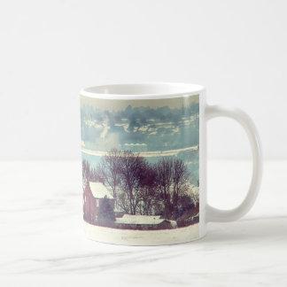 A Snowy Day Landscape Coffee Mug