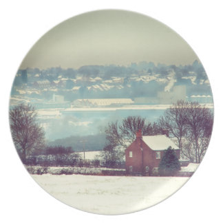 A Snowy Day Landscape Dinner Plates
