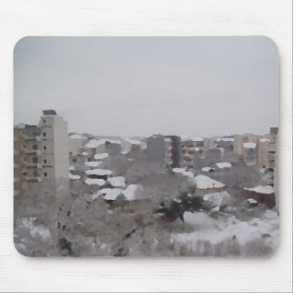 A snowy day mouse pad