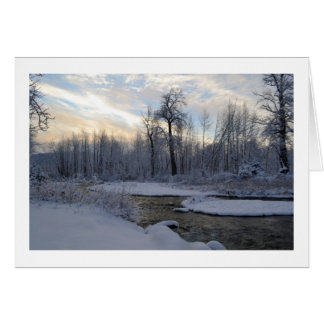 A Snowy Day on Ship Creek Greeting Card
