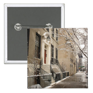 A Snowy Day on the Upper East Side Pinback Button