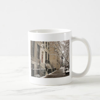 A Snowy Day on the Upper East Side Basic White Mug