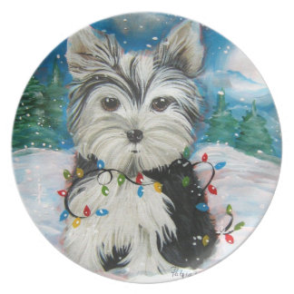 A Snowy Nite Holiday Plate