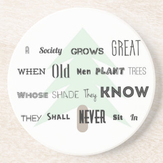 A Society Grow Great~Coaster Sandstone Coaster