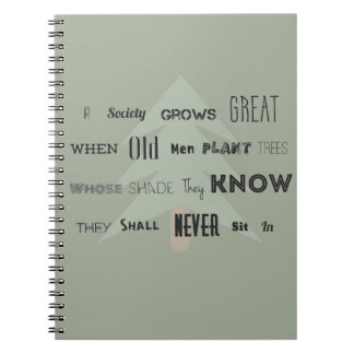 A Society Grows Great~Notebook Spiral Note Book