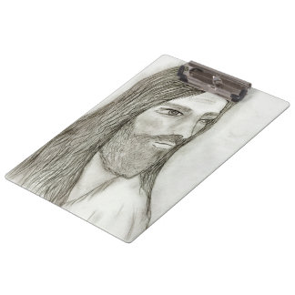 A Solemn Jesus Clipboard