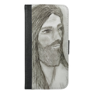 A Solemn Jesus II iPhone 6/6s Plus Wallet Case