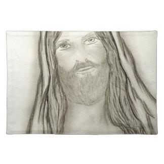 A Solemn Jesus Placemat