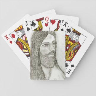 A Solemn Jesus Poker Deck