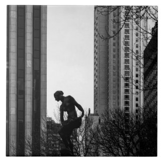 A Solitary Moment in the City Tile