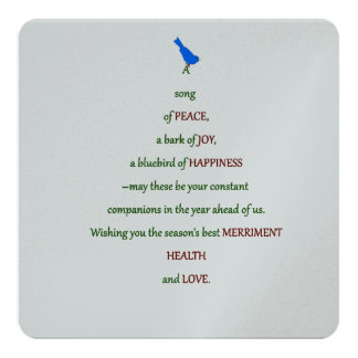 A Song of Peace 13 Cm X 13 Cm Square Invitation Card