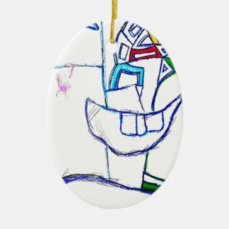 A Songbirds Morphetic Ceramic Oval Decoration