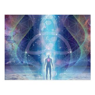 """""""A Spark of the Creator"""" - Trinity Postcard"""