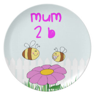 A special gift for a mum to be plate