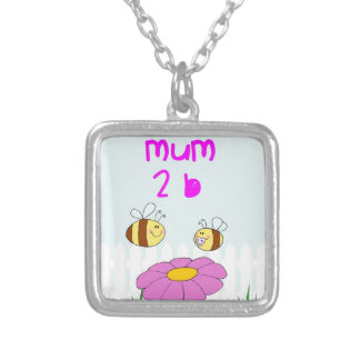 A special gift for a mum to be silver plated necklace