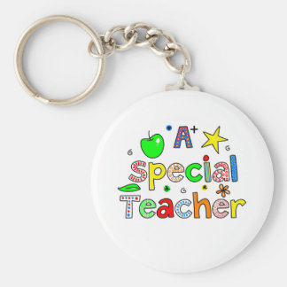 A Special Teacher Basic Round Button Key Ring