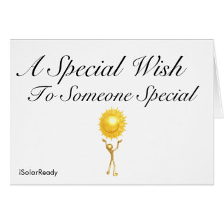 A Special Wish To Someone Special Greeting Card