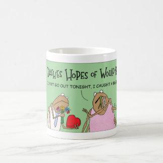A spider date coffee mug